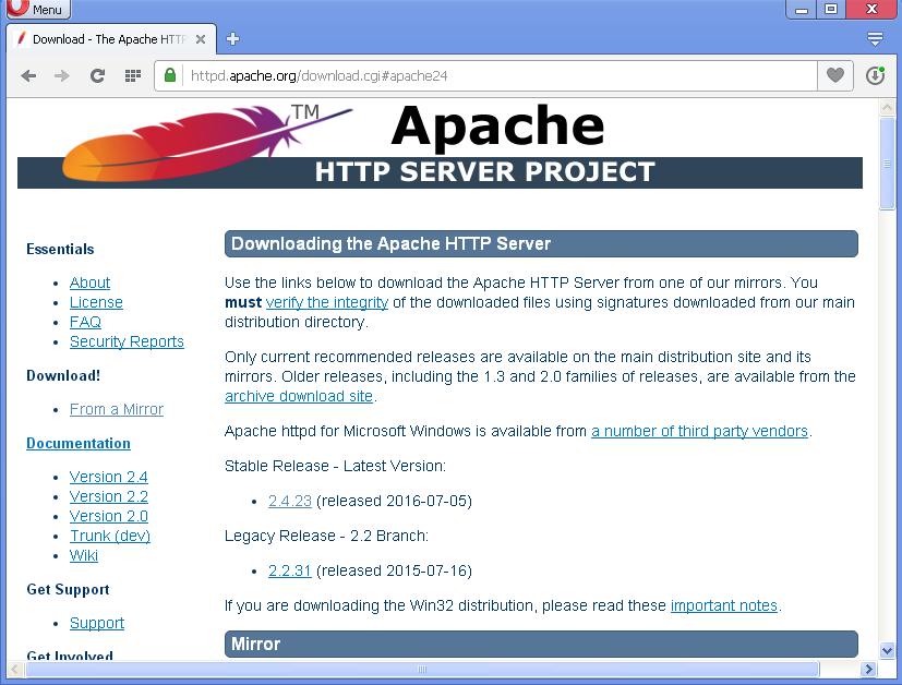 Apache Baixar