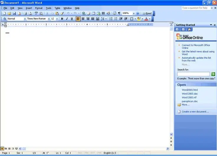 Microsoft Office 2003 Baixar